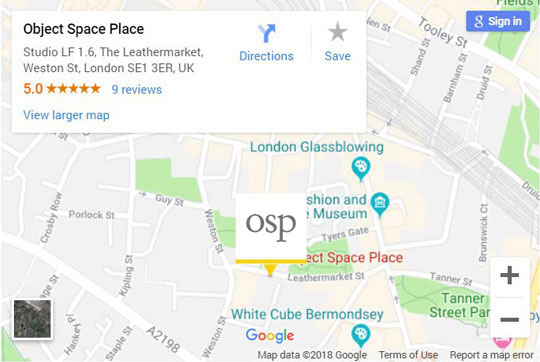 Object Space Place location on Google Map