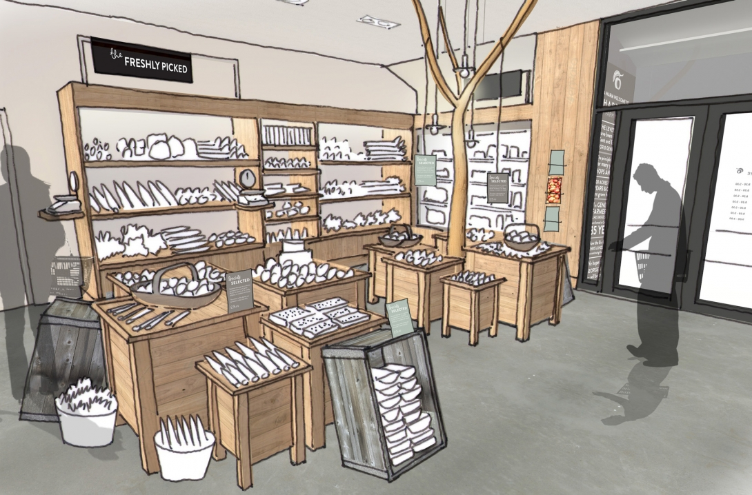 ... Shop In Kent, We Were Asked To Develop A High Quality Food Hall  Including All Aspects Of The Graphic Design, Packaging, Art Direction And Shop  Interior.